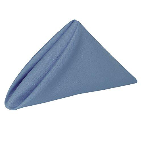 Ultimate Textile -1 Dozen- 17 x 17-Inch Polyester Cloth Napkins Periwinkle Blue