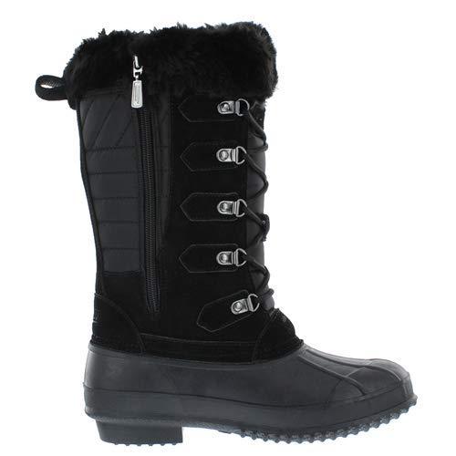 Khombu Caelyn Waterproof Winter Duck Boots for Women Black