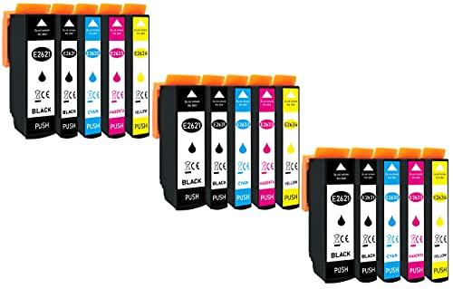 Markenpatrone - Cartuchos de tinta para impresora con chip e indicador de llenado para Epson Expression Premium XP-510, XP-520, XP-600, XP-605, XP-610, XP-615, XP-620, XP-625, XP-700, XP-710, XP-720, XP-800, XP-810, XP-820