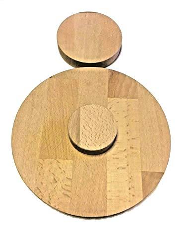 Runde Holzscheibe Rund Holz Buche Leimholz Platte 27mm 40-600mm Tischplatte (700 mm)