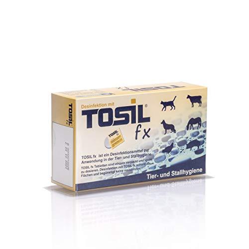 Inoquest Labs TOSIL fx Tabs (25 Tabletten) - Geprueftes Desinfektionsmittel, wirksam gegen Bakterien, Viren, Pilze und Parasiten (Giardien & Kokzidien), Wirkstoff: Chloramin-T