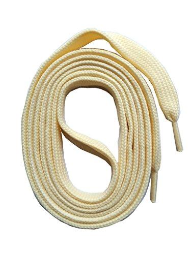 SNORS flache Schnürsenkel CREME 180cm lang, 7-8mm, reißfest, Polyester, Made in Germany für Chucks, Stiefel, Stiefeletten - ÖkoTex