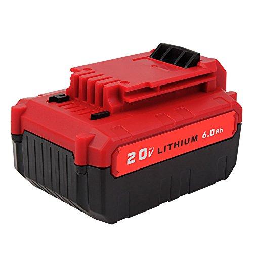 20V 6.0Ah PCC685L Lithium ion Battery for Porter Cable 20V MAX PCC682L PCC680L