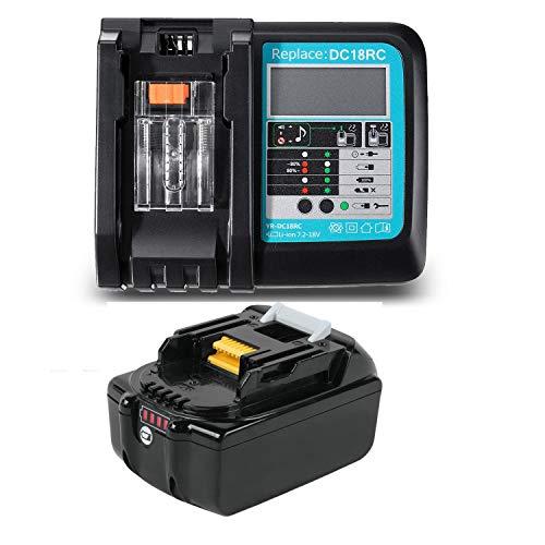 18V 5.0 Ah BL1850B Sostituzione Batteria con caricatore DC18RC 3A per Makita18 Volt BL1860B BL1860 BL1840 BL1845 BL1835 BL1830 BL1815 LXT-400