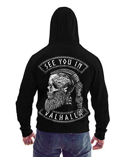 Trillest Gear See You IN Valhalla - Herren Sweatjacke Zip Hoodie Kapuze Pullover (XXL)