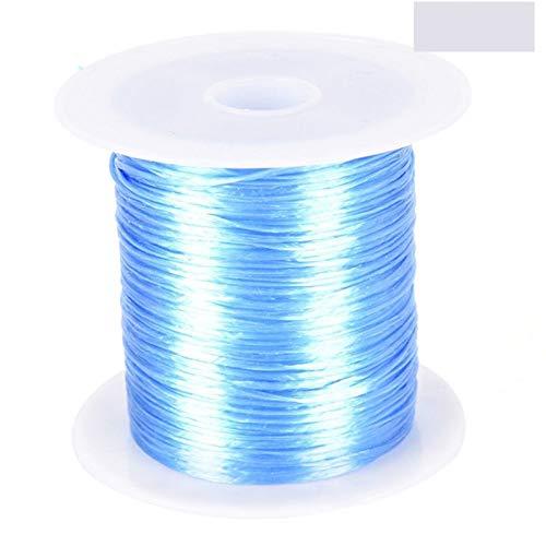 FENCHUN 1 mm Stronge Strongy Crystal String Beading Cable Hilo Cuerda Elástica para Hacer Hallazgos De Joyería Collar De Bricolaje Bricolaje (Color : Blue)