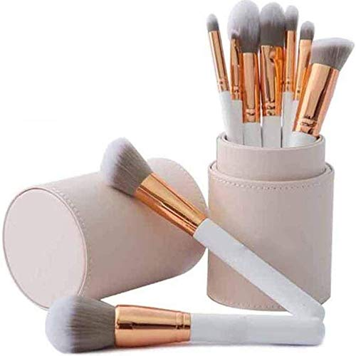 LMDH Make-up Pinsel 9 Stück Holz Griff Synthetische Haare Make-up-Pinsel-Sets mit...