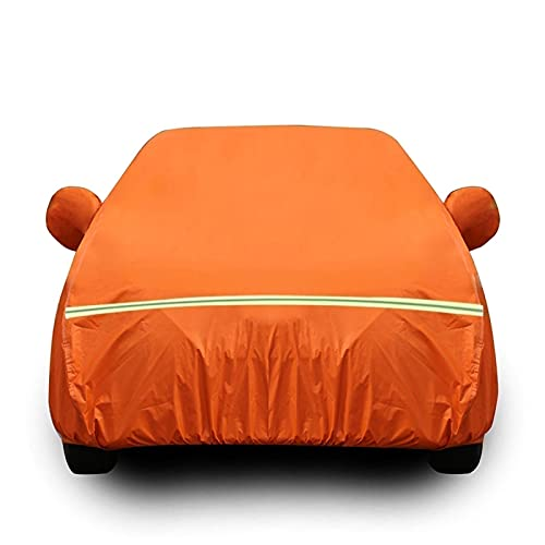 Funda Coche Compatible con Mercedes-Benz C-Class, Transpirable Cubierta de Coche para Invierno Verano Exterior Antipolvo Cubre mpermeable Cubierta para Lona Coche (Color : Orange, Size : Coupé)