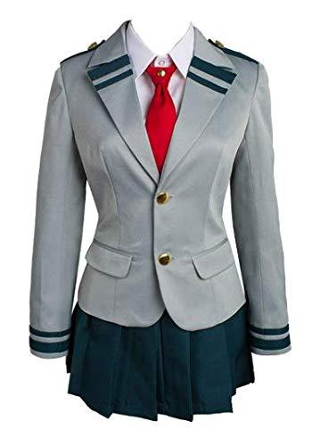 NANLAI Boku No Hero Accademia My Hero Academia Tsuyu Uniforme Scolastica Cosplay Kostüm Damen (L)