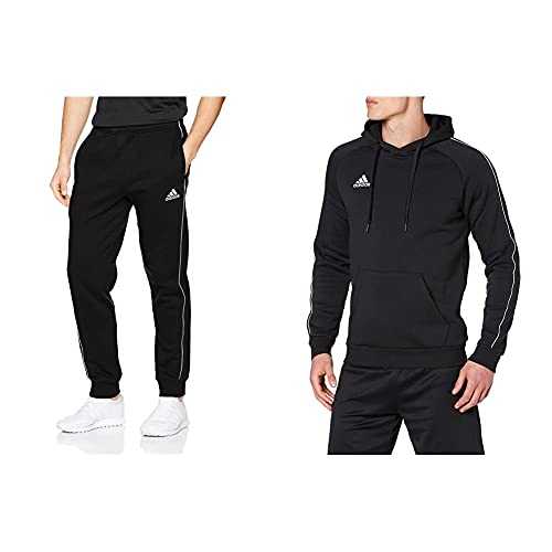 adidas Football App Generic Pantaloni Pants 1/1, Uomo, Black/White, M & Football App Generic Felpa Hooded Sweat, Uomo, Black/White, M