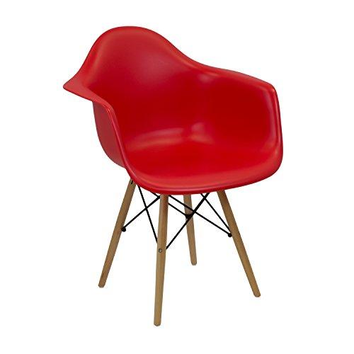 Vaukura Silla Eames - Silla Tower DAW Rojo