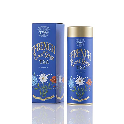 TWG Tea, TWGTea French Earl Grey lose Blatt Schwartze tee in Haute Couture Geschenkteedose, Waldbeere, 100 g