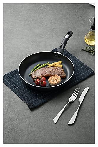 Yinyimei sarten Antiadherente Pan Non-Stick Panne Crepe Pan Tortilla Tortilla Pan de Huevo Toma de Huevo para inducción No Tóxico 26 cm (Blatt-Größe : 26cm)