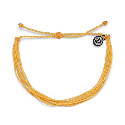 Pura Vida Original Solid Gold Bracelet - 100% Waterproof, Adjustable Band - Plated Brand Charm