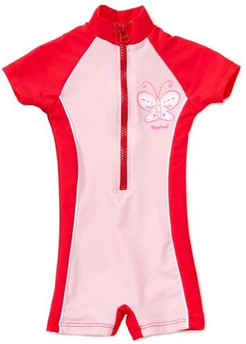 Playshoes Unisex - Baby Babybekleidung/ Badebekleidung UV-Schutz nach Standard 801 und Oeko-Tex Standard 100 Einteiler Schmetterling 460061, Gr. 98/104, Rosa (900 original)