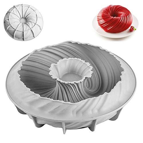 Silikon Backform Kuchenform 22 cm Rund Donuts Kuchenform 3D DIY Mousse Schokolade Mould für Küche Dessertform,Silikon Rund Kuchenform für Backen Mousse Backformen Werkzeuge