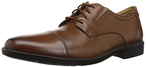 Bostonian mens Birkett Cap Oxford, Dark Tan Leather, 10.5 US