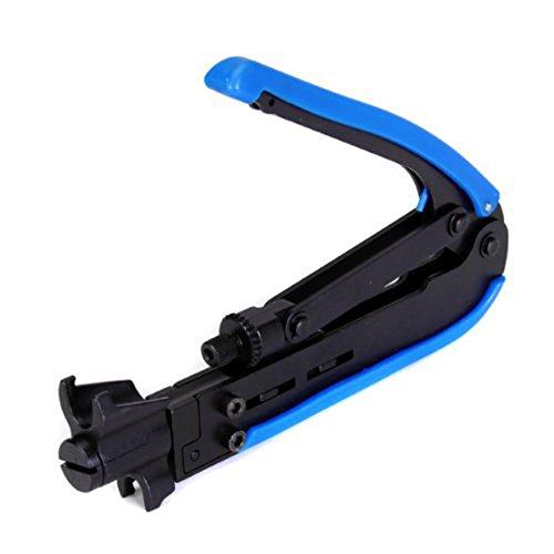 pratique RG59 RG6 Câble F-Connector Outil de compression en plastique et en acier réglable Compression Tool-hardened Construction en acier