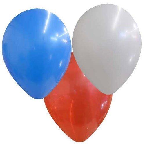 Ballons Latex 25cm Assortiment Rouge Blanc Bleu x 100