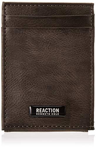 Kenneth Cole REACTION Men's RFID Front Pocket Wallet, Grey Nolita, One Size