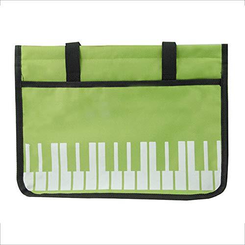 Musik Schultasche Klaviertaste Druck Handtasche Musik Datei Portfolio Tragbare Datei Tasche Musik Buch Note TräGer 37 * 10,5 * 27,5 Cm