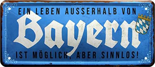 Plaque en tôle décorative en tôle 1577 de la Marque Bayern 28 x 12 cm
