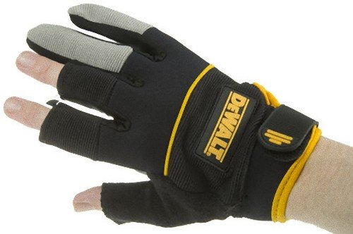 Dewalt DPG24L 3-Finger Framing Work Glove with Soft Neoprene Wrist Band for Added Comfort and Easy Pull-On Tab, Large