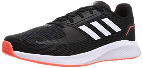 adidas RUNFALCON 2.0, Zapatillas de Running Hombre, NEGBÁS/FTWBLA/Rojsol, 45 1/3 EU