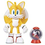 Sonic The Hedgehog 4' Modern Tails Action Figure with Fast Shoe Item Box Accessory