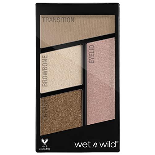 Wet n Wild - Color Icon Eyeshadow Quads - Palette Ombretti Piccola Makeup, con Mix di Finish Shimmer e Matte - Tenuta Estrema, Facile da Sfumare - Vegan - Walking On Eggshells