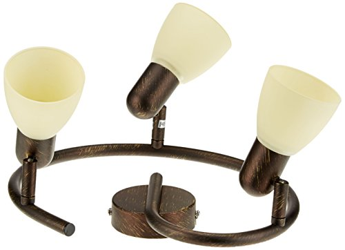 RABALUX Spot, Glas, E14, Antik Braun, 3-flammig