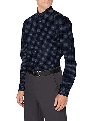 Seidensticker Herren Business Hemd , Dunkelblau, 41
