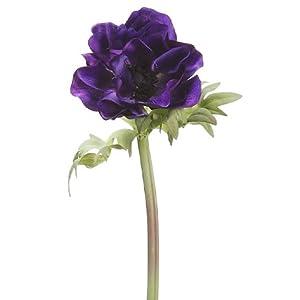 17″ Anemone Spray Purple (pack of 12)