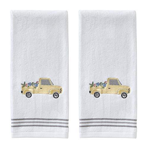 SKL HOME by Saturday Knight Ltd. Yellow Flower Truck Hand Towel Set, White