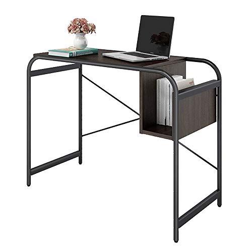 VBARV Student Laptop Schreibtisch, einfacher Studiertisch, Stady Stahlkonstruktion, konkaves Aufbewahrungsdesign, verstellbare Füße, abgerundete Ecke, für das Home Office
