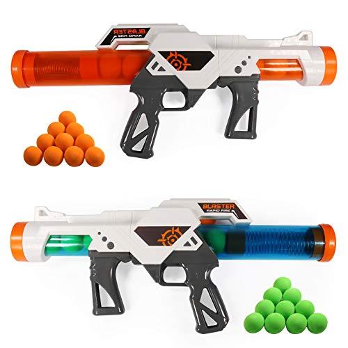 Proiettili Morbidi Pistola giocattolo, 2pcs Dual Battle Pack, pistole ad aria compressa per sparatutto ad aria compressa per bambini di età superiore a 6 anni che giocano con la loro famiglia