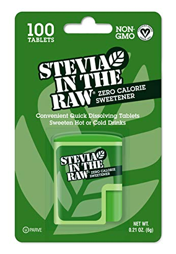 Stevia In The Raw, Zero Calorie Sweetener Tablets 100 Count (1 Pack)