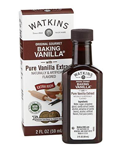Watkins Original Gourmet Baking Vanilla with Pure Vanilla Extract, 2 Fl Oz, 1 Count (Packaging may vary)