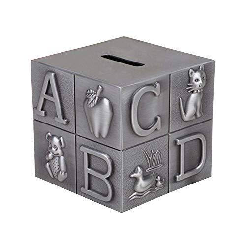 WXK Metal alcancía Moneda Almacenamiento, Caja de Dinero Cubo de Rubik Regalos para los niños Amigos, también Adornos para Decoraciones de Habitaciones