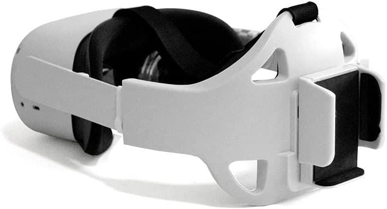 Immersant Oculus Quest 2 Accessories - Oculus Quest 2 Head Strap with Battery Holder - Oculus Quest 2 Elite Strap Replacement - for Power Banks with Up to 2.8