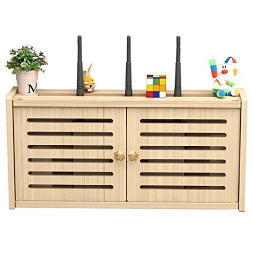 Router rack Window-Shades Bracket Montaje en Pared, Estante de Pared Flotante, Caja de Almacenamiento WiFi, Caja organizadora de Cables, Protector de regleta de enchufes