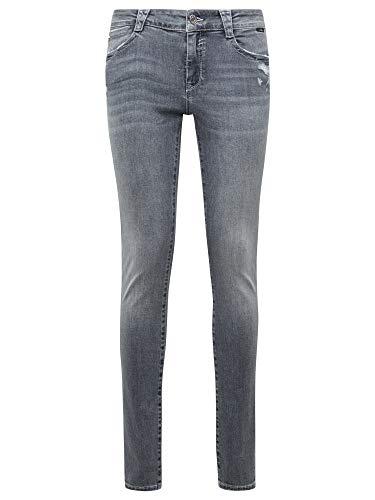 Mavi Damen Adriana Jeans, Grey Ripped Glam, 24/30
