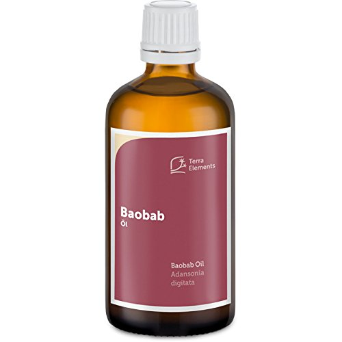 Terra Elements Baobab Öl, 100 ml I Feuchtigkeitsspendend I 100% rein I Vegan I Kaltgepresst