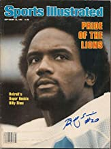 Autographed Signed Billy Sims Sports Illustrated - Certified Authentic
