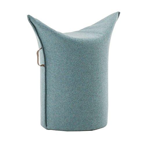 Werther – Die Möbelmanufaktur Zipfel Hocker 62 x 36 cm, h 60 cm - blaugrau