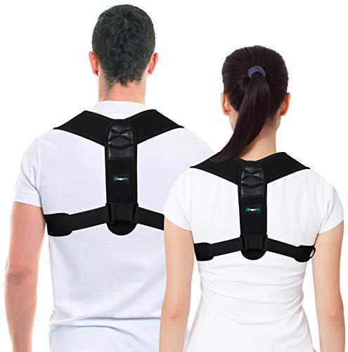 Top Haltungskorrektur, Rückenstütze, Rücken-Geradehalter für Frauen und Männer von BRANFIT. Schultergurt, Rückengurt. Schlüsselbein Stützstrebe für Schulterstütze, Oberen Rücken & Nackenschmerzen