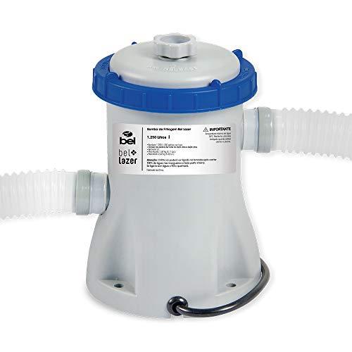 Bomba De Filtragem P/1250 L/hr-220v Bel Fix Cinza E Azul
