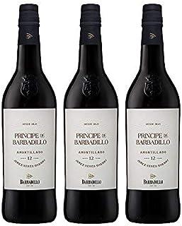 Vino Amontillado Principe de Barbadillo de 75 cl - D.O. Jerez - Bodegas Barbadillo (Pack de 3 botellas)