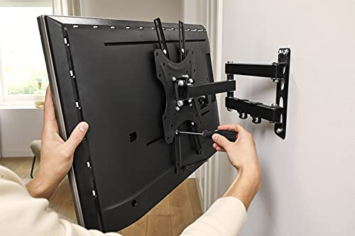 PHILIPS SQM9232/00 - TV Wandhalterung - Universel, schwenkbar - für TV von 17 bis zu 42 - LCD, OLED, QLED, LED Plasma Curved Flachbildfernseher Monitor - Schwarz