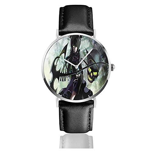 Rock Shooter Armbanduhr Benutzerdefinierte personalisierte Bild Unisex Sport Lederarmband Uhr Quarzuhren Herren Damen Armbanduhr